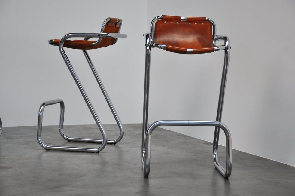 Charlotte Perriand bar stools for Les Arcs 1960