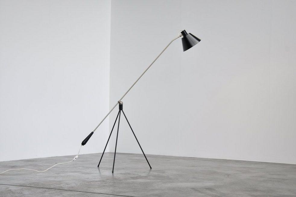 Fillekes Magneto floor lamp for Artiforte 1950