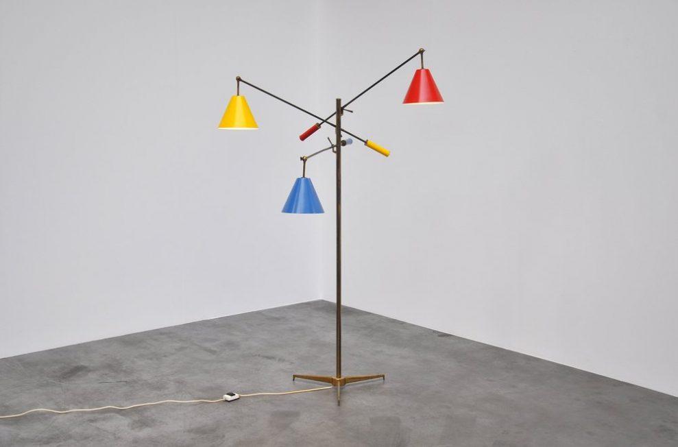 Arredoluce Triennale lamp by Angelo Lelli, 1953