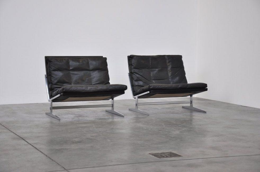 Preben Fabricius & Jorgen Kastholm Bo 561 lounge chairs 1962