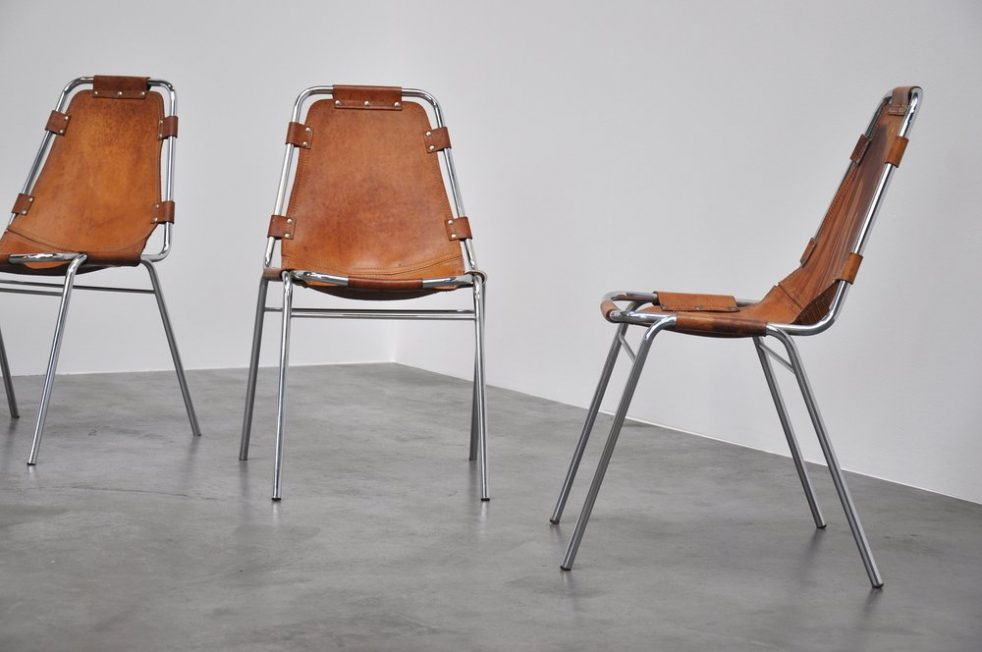 Charlotte Perriand chairs for Les Arcs 1960