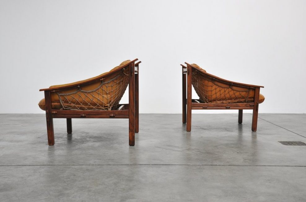 Jean Gillon sling chairs, Brazil 1960