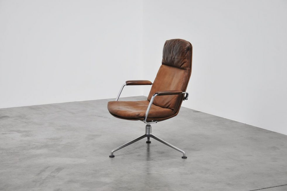 Preben Fabricius Jorgen kastholm FK86 swivel chair 1968