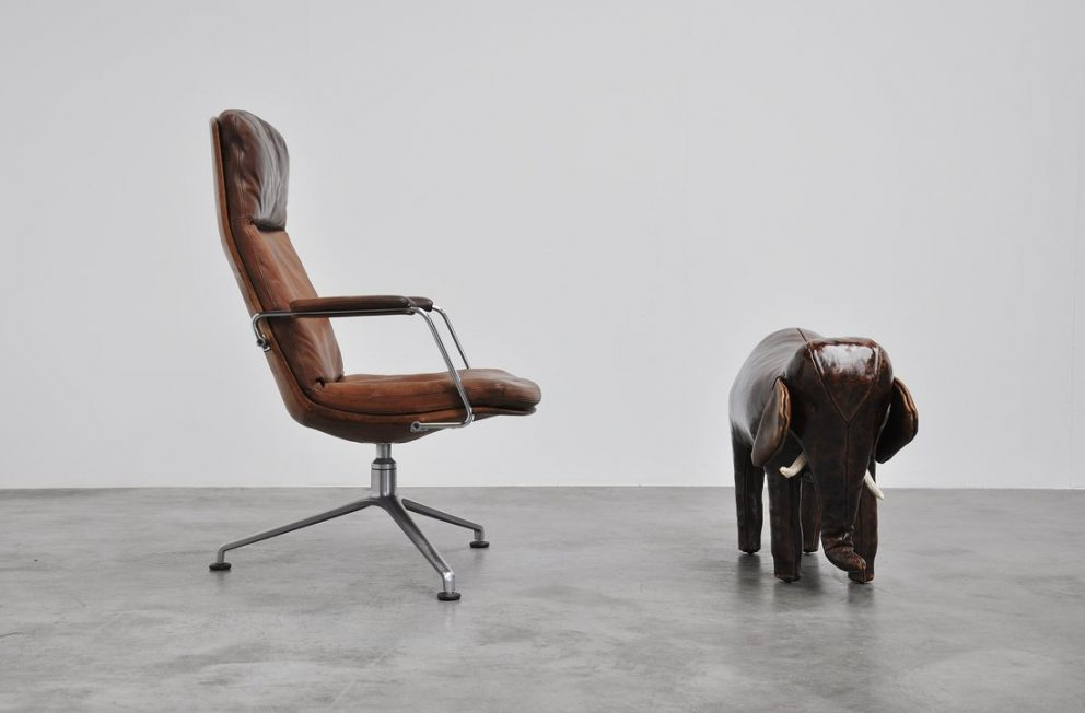 Dimitri Omersa elephant foot stool, England 1960
