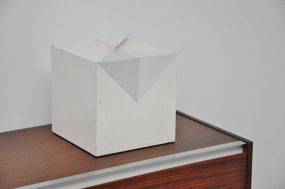 Piet Mulders cubistic geometric sculpture 1974