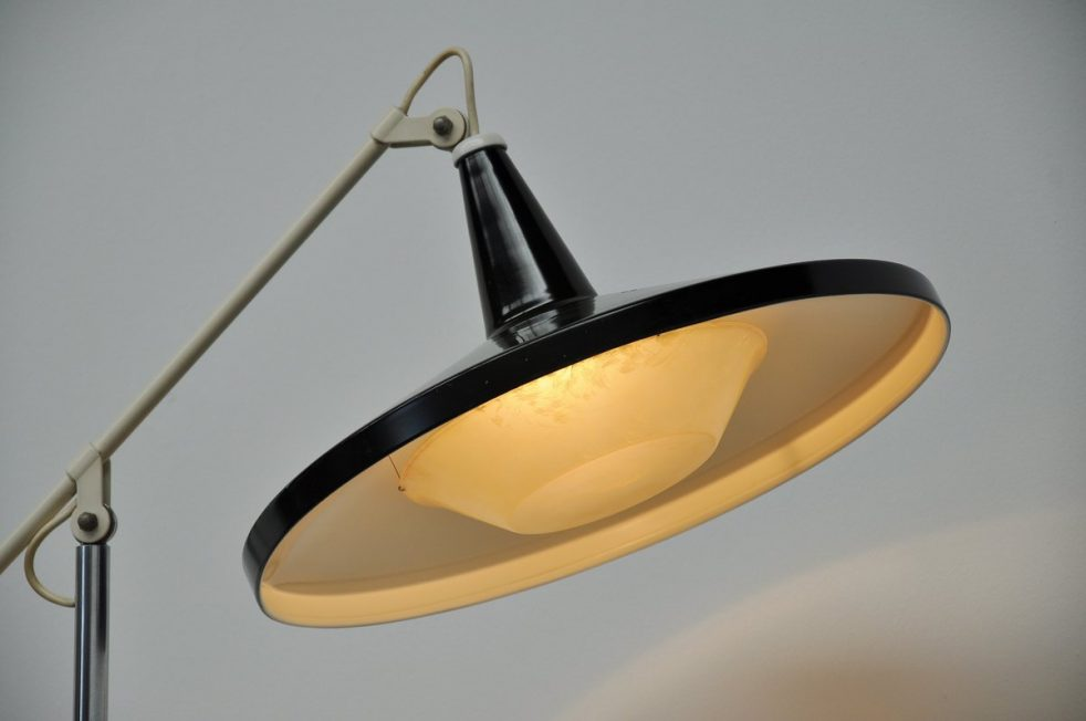 Wim Rietveld Gispen panama black table lamp 1955