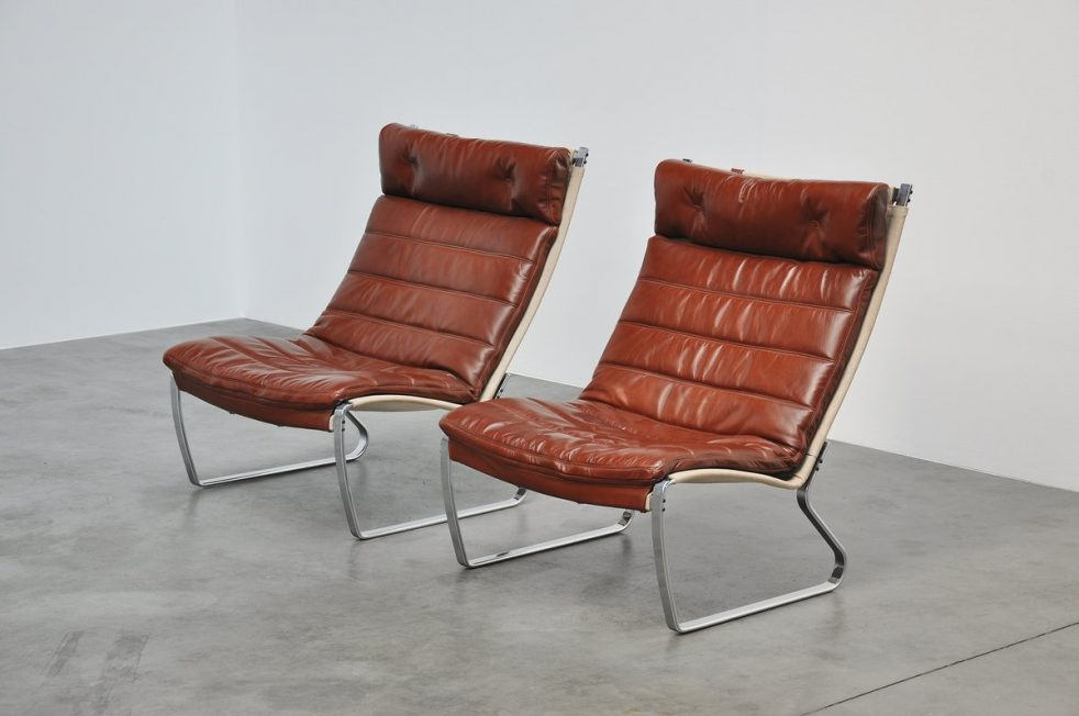 Jorgen Kastholm JK720 lounge chairs, Kill international 1970