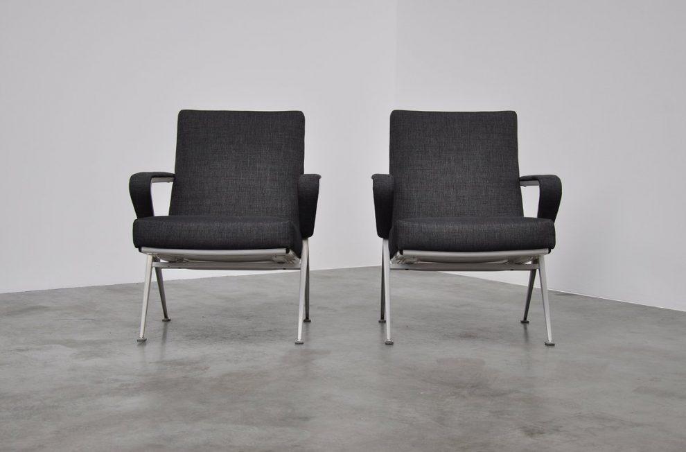 Friso Kramer Repose chairs pair, Ahrend 1959
