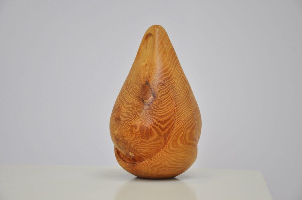 Pine wooden abstract modern JGr. sculpture 1960