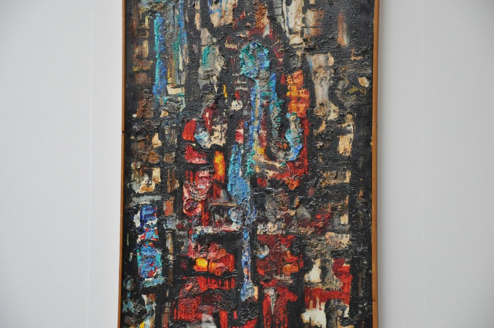 A. Oldenhove large abstract modern painting Amsterdam 1965