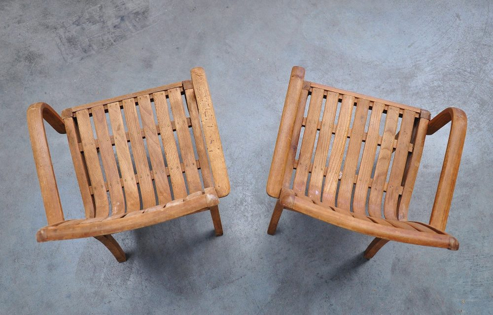 Pair of bentwood kids chairs 1940