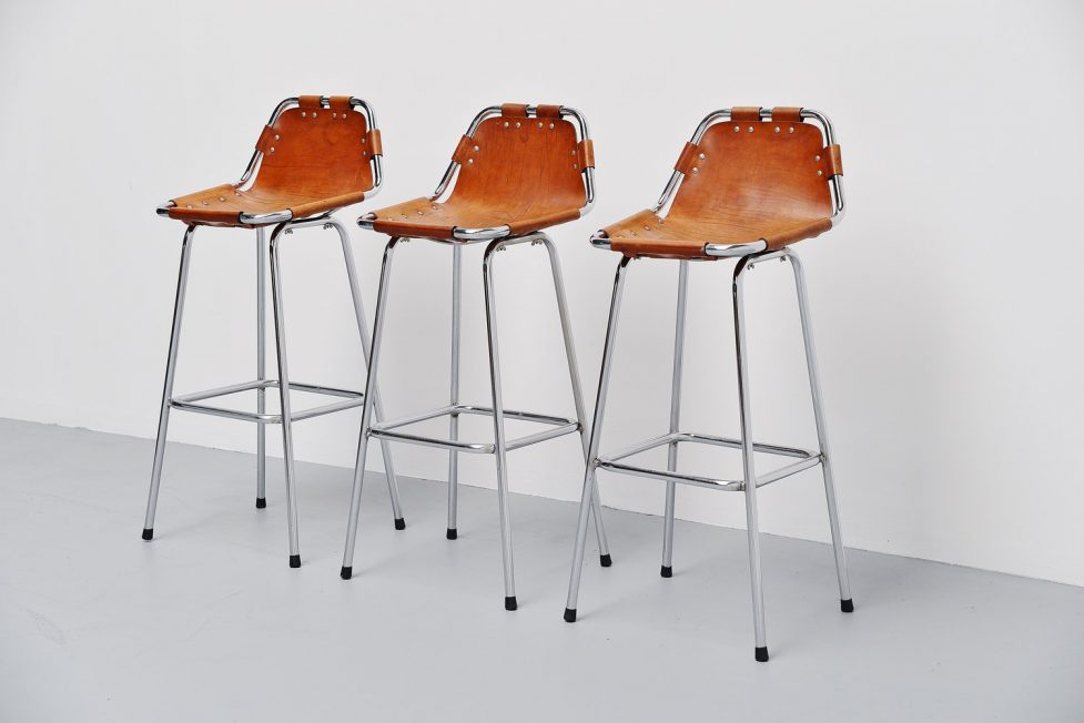 Charlotte Perriand bar stools for Les Arcs 1960
