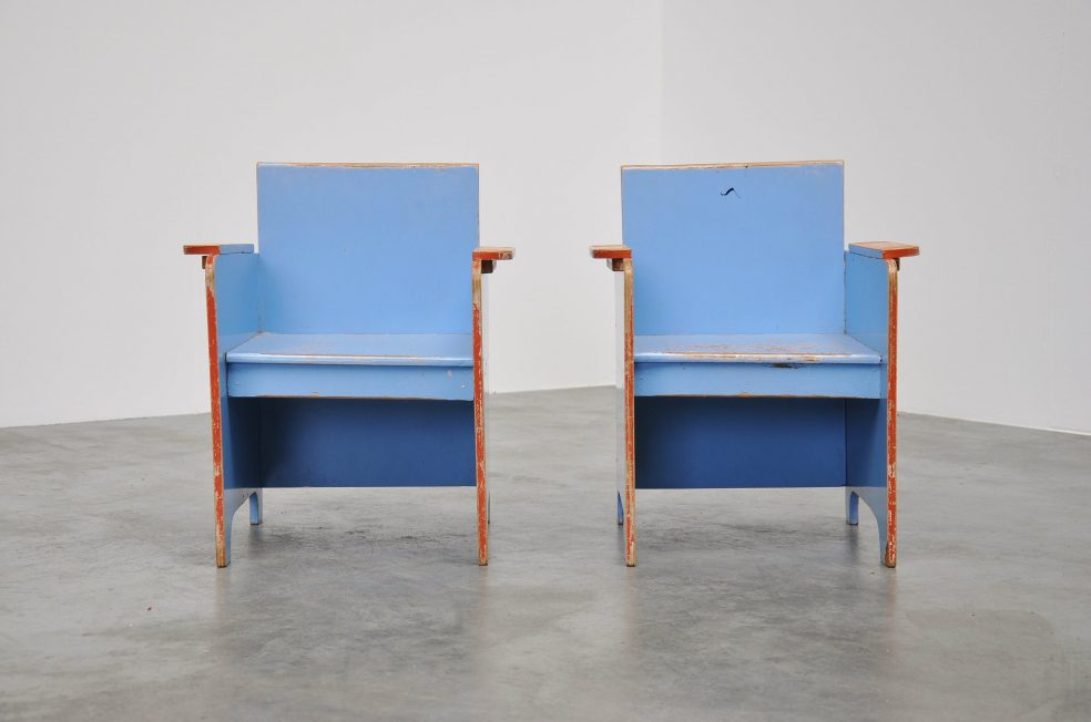 Kids chairs set 'De Stijl' 1940s