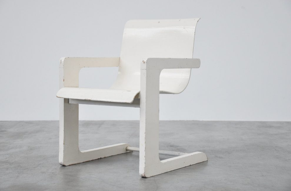 Plywood kids chair in the manner of Alvar Aalto 1950