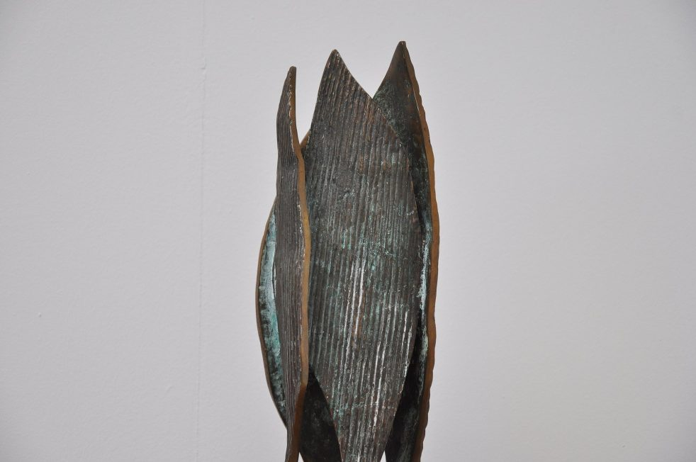 Belgian solid bronze tree sculpture 1960