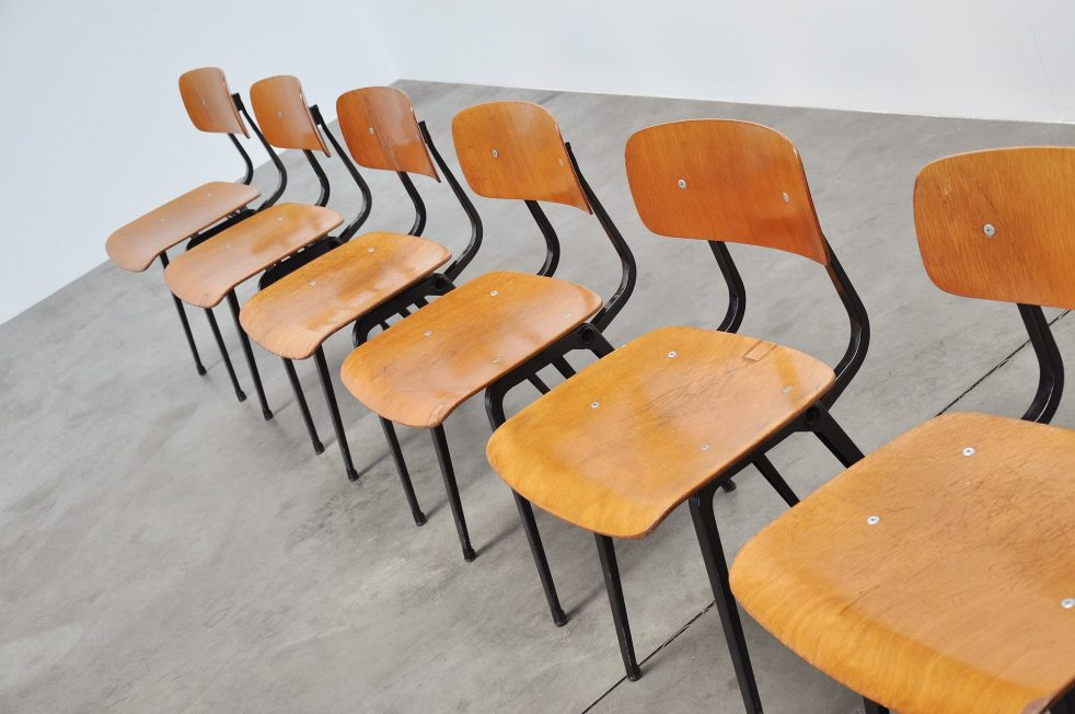 Friso Kramer Revolt chairs for Ahrend de Cirkel 1953