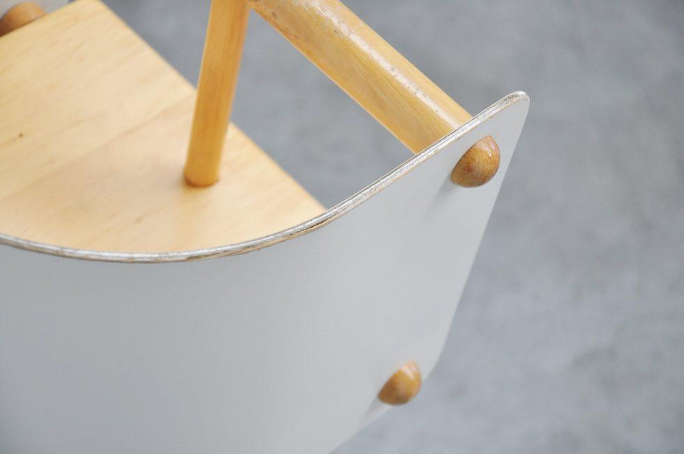 Ben Schulten high plywood baby chair Finland 1965