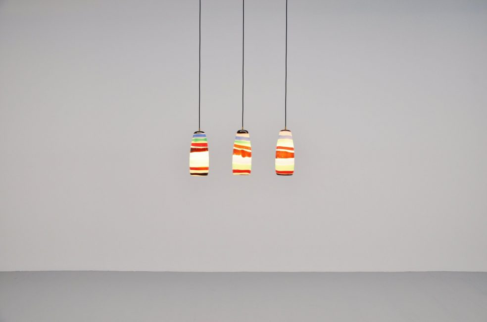 Massimo Vignelli Sigaro lights for Venini 1954