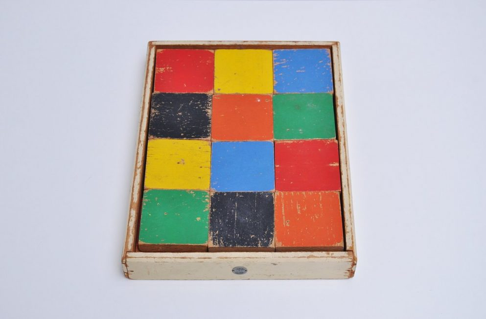 ADO Ko Verzuu puzzle decorative kids toy 1950