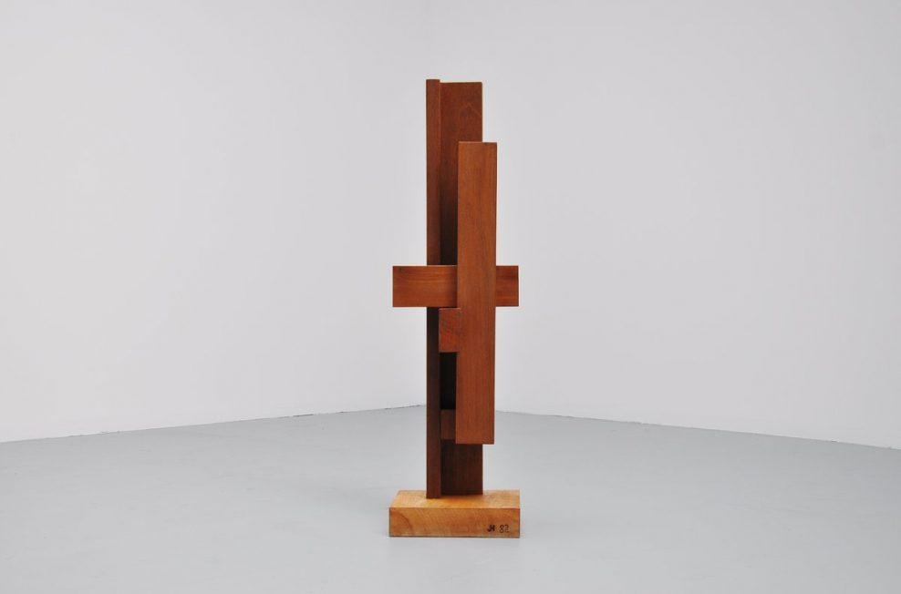 Johannes Hoog geometric modern sculpture 1982