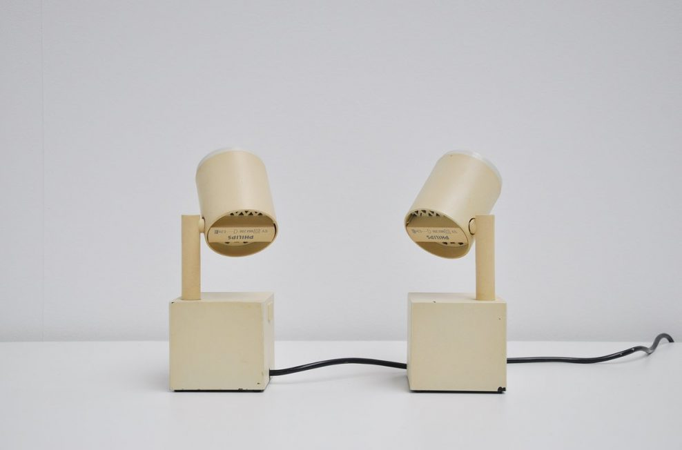 Ettore Sottsass Halo Click spot Philips 1988