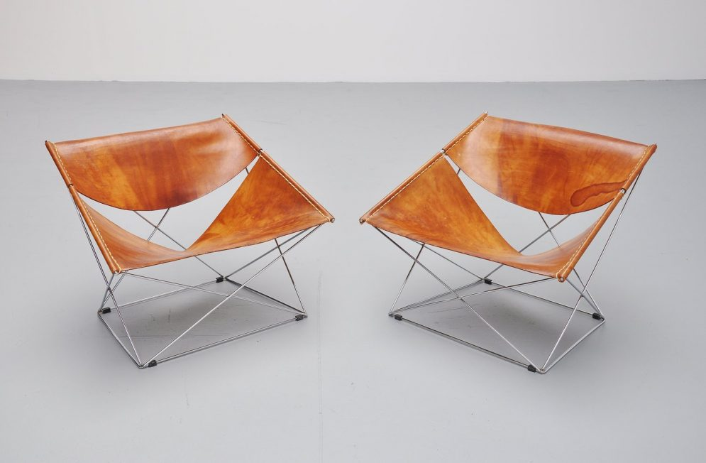 Pierre Paulin F675 Butterfly chairs pair Artifort 1963