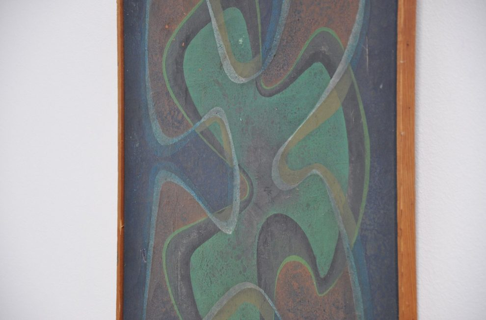 A.H.v.d Vloot Hubertus abstract modern composition on Canvas, 1960