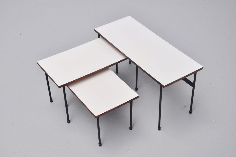 Martin Visser Twello nesting table set 't Spectrum 1956