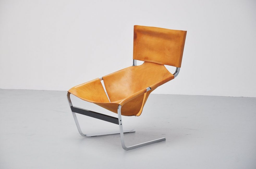 Pierre Paulin F444 in natural leather for Artifort 1963