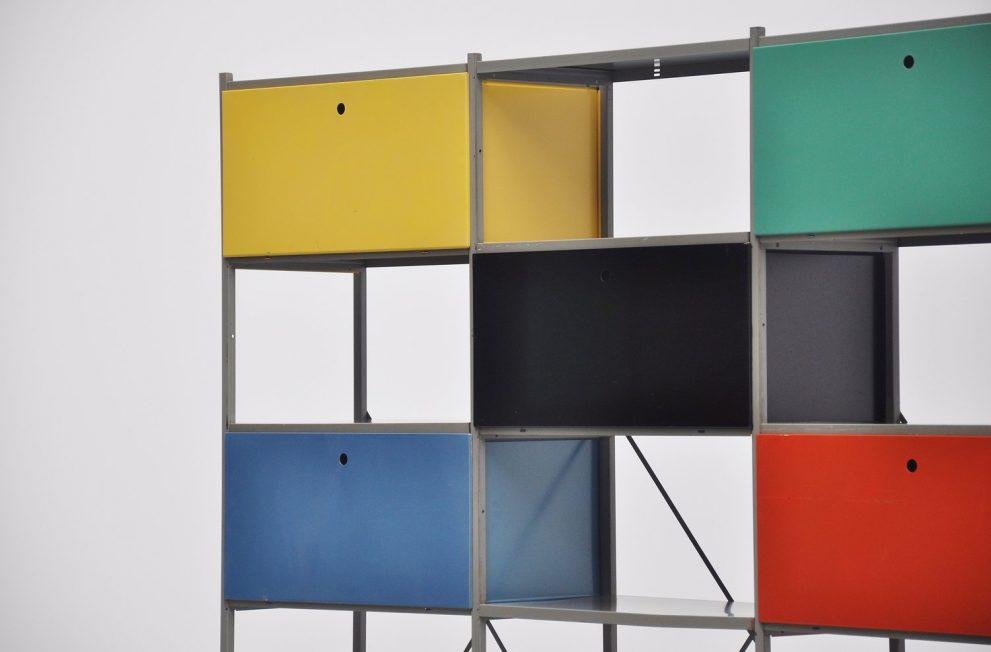 Wim Rietveld 663 Gispen bookcase or room divider 1954