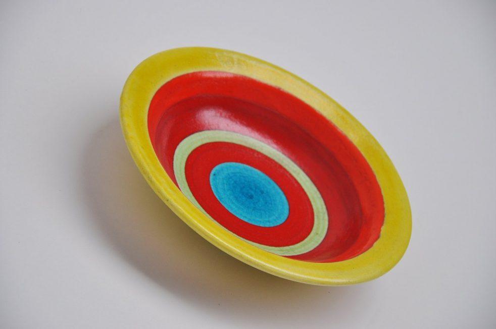 Guido Gambone ceramic art bowl Italy 1950