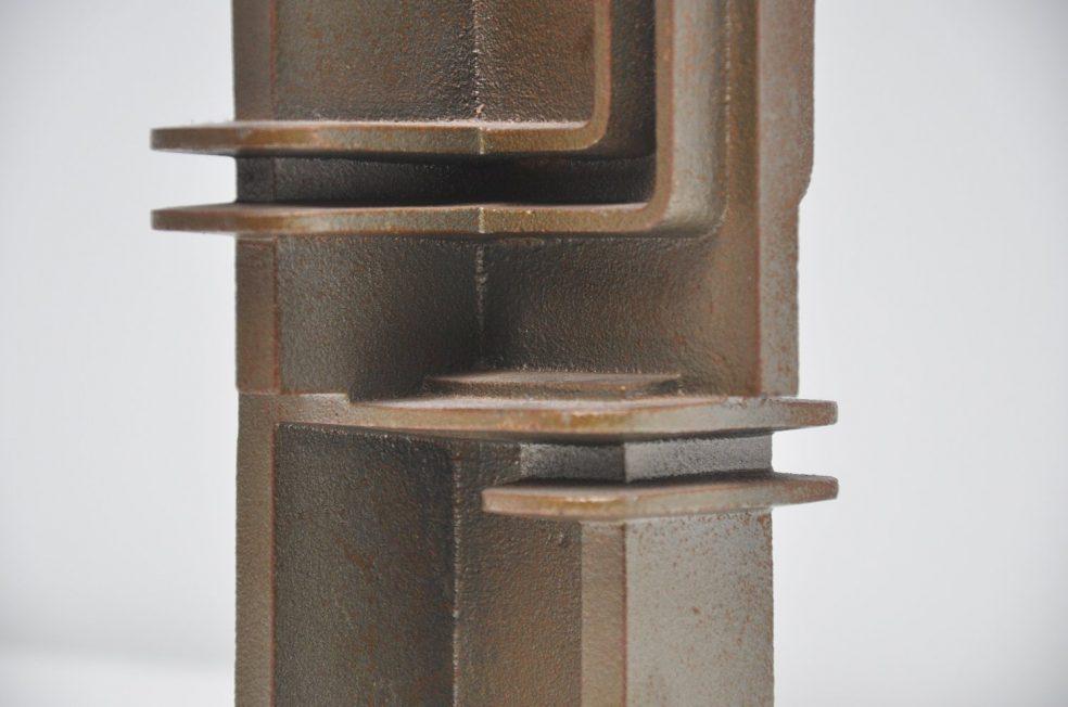 Iron abstract sculpture JS 1971 Vulkaansoord 1821-1971
