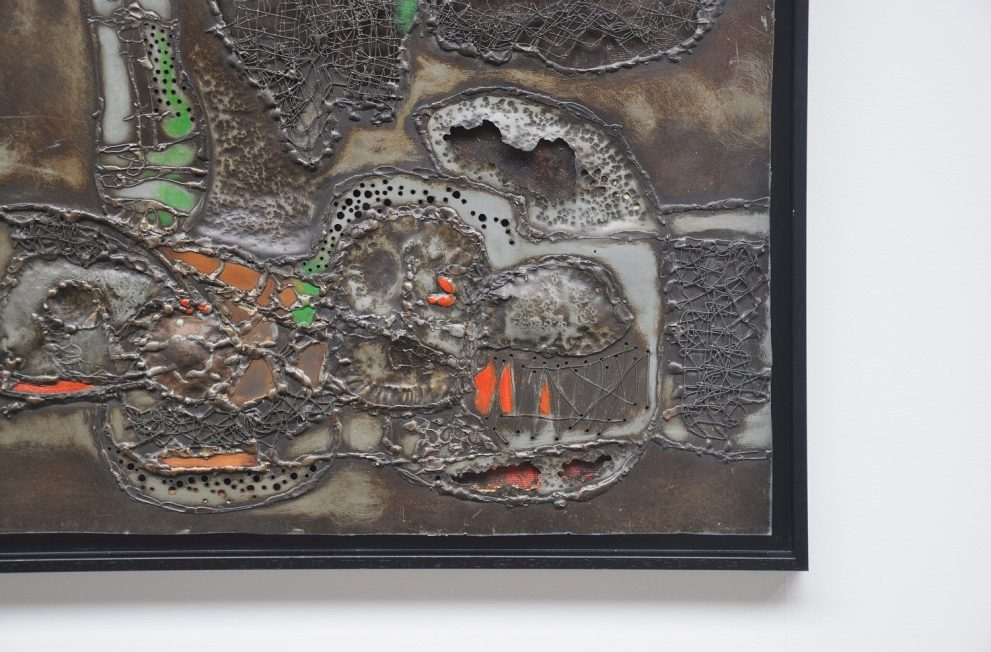 Abstract modern metal artwork 1960s