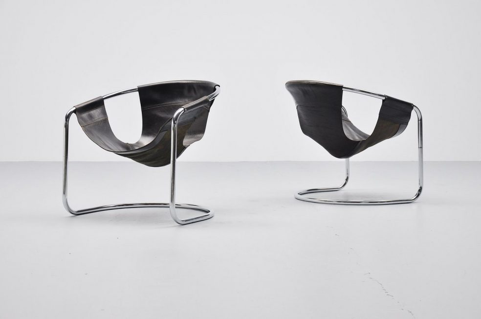 Clemens Claessen lounge chairs, Holland 1960