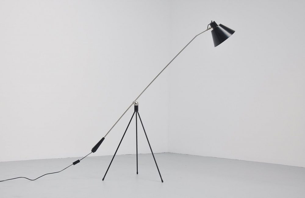 H. Fillekes Magneto floor lamp Artiforte 1954