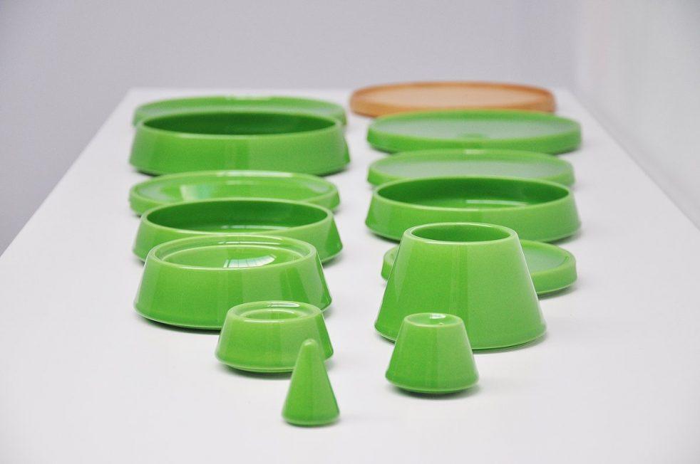 Pierre Cardin breakfast tableware set by Franco Pozzi Italy 1970