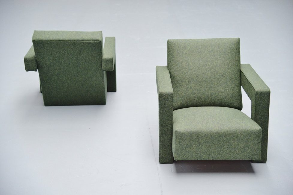 Gerrit Thomas Rietveld Utrecht chairs Metz & Co 1961