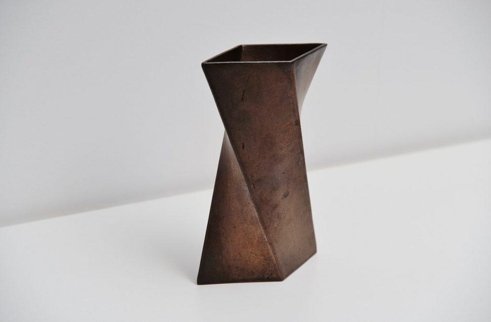 Jan van der Vaart bronze ceramic vase 1979