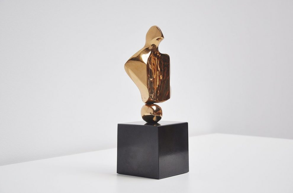 Willy Ceysens bronze sculpture on marble base 1960