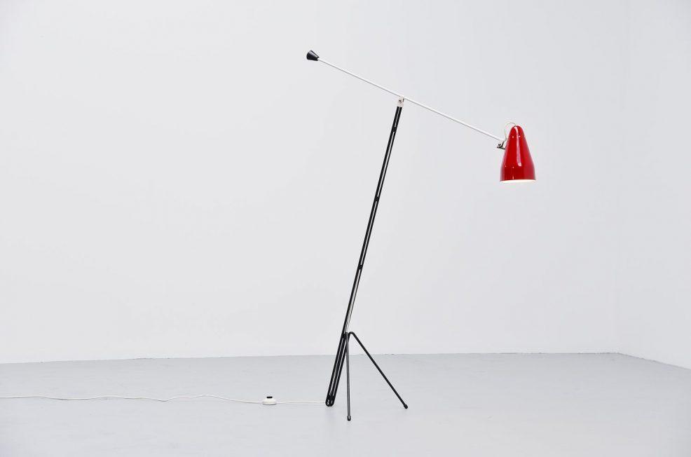 Wim Rietveld 6320 floor lamp, Gispen Culemborg 1953