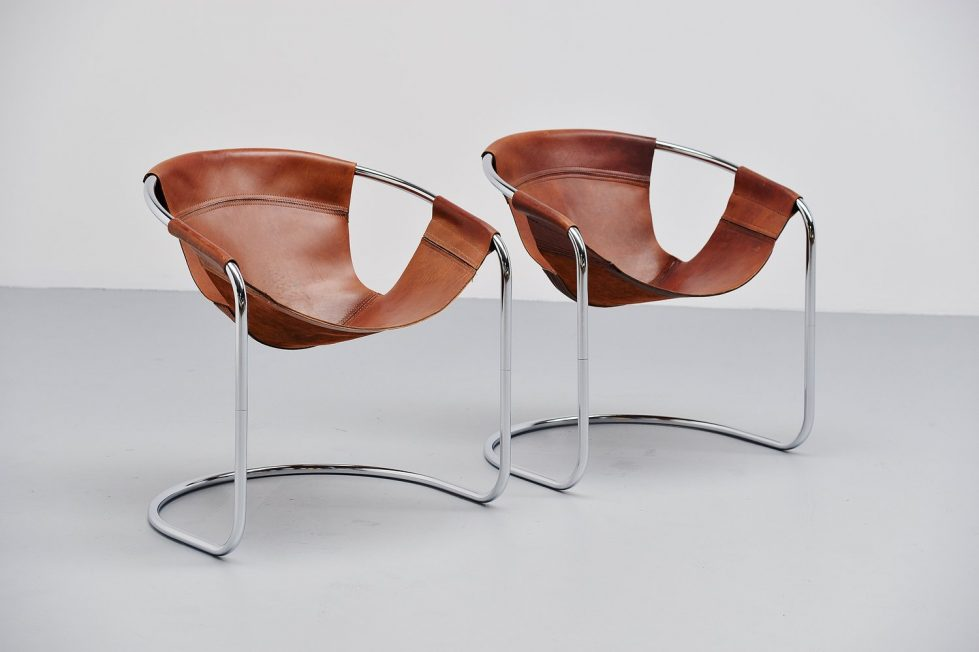 Clemens Claessen lounge chairs pair, Holland 1965