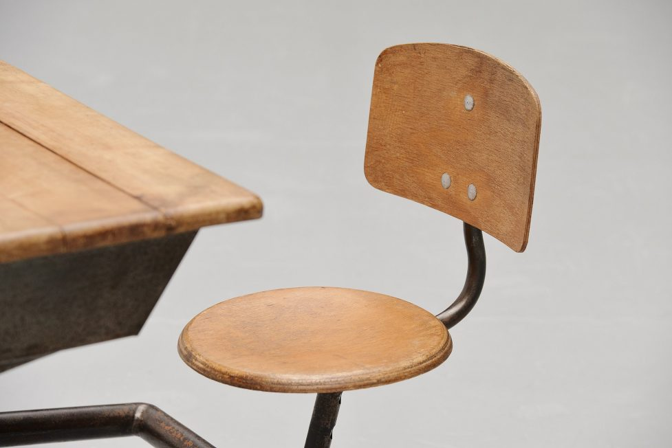 Jean Prouve school desk pupitre No. 800 France 1952