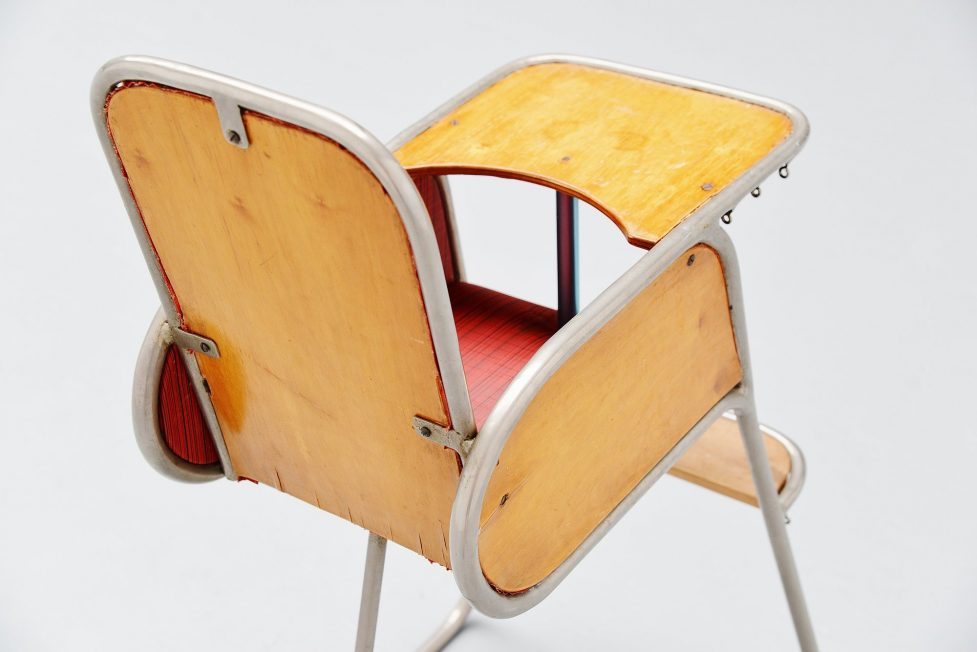 High tubular kids chair Holland 1940