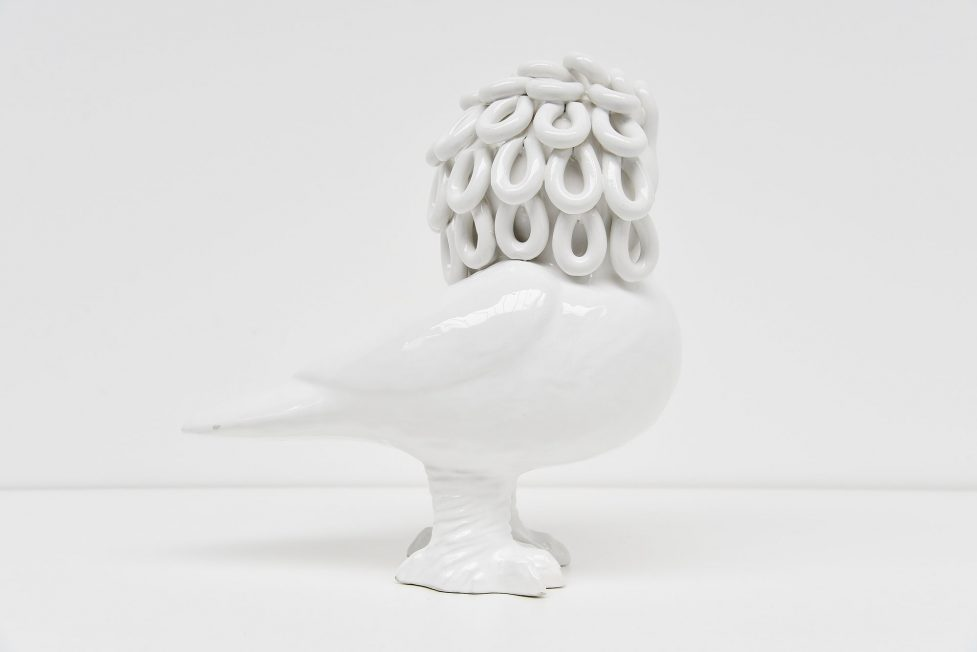 Ceramic owl by Therese and Marie Henriette Bataille France 1960