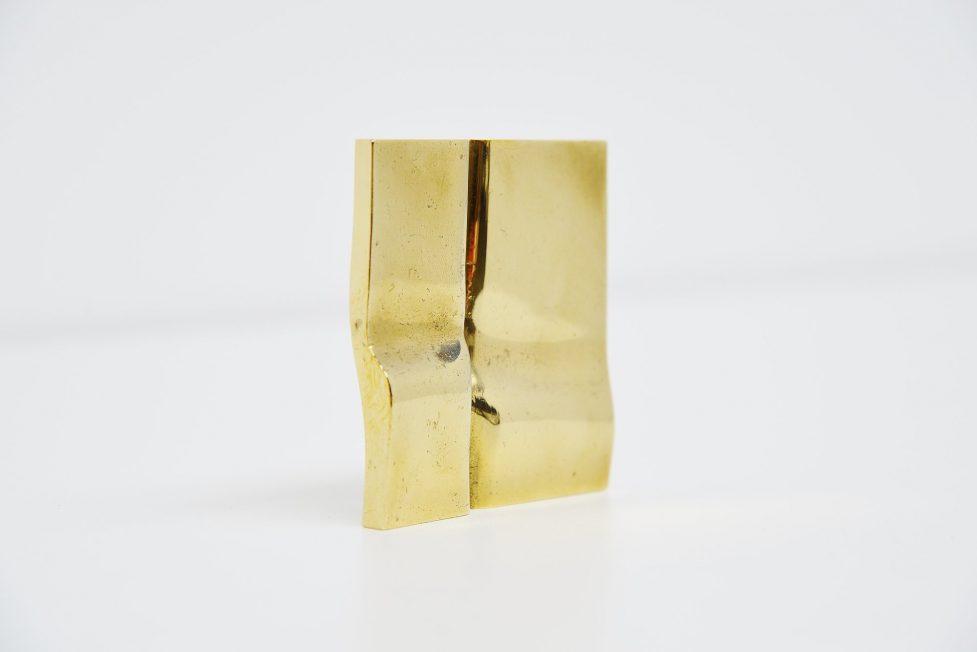 Frans de Wit brass sculpture Nouvelles Images 1975