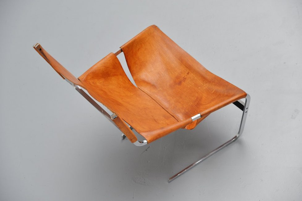 Pierre Paulin F444 in natural leather Holland 1963