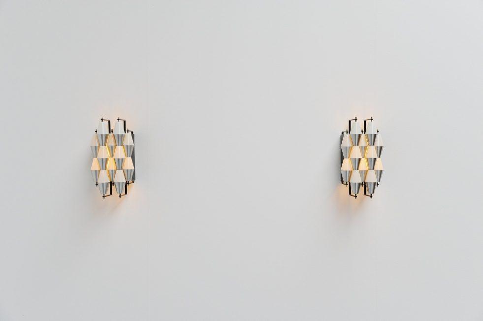 Raak Ludiek sconces pair, Holland 1960