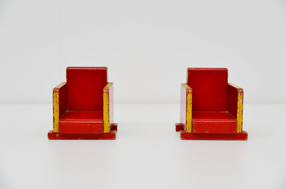 Ado toy chairs Ko Verzuu, Holland 1939