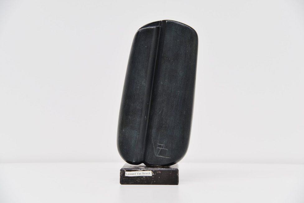 Leonard van Broeck abstract sculpture in stone 1970