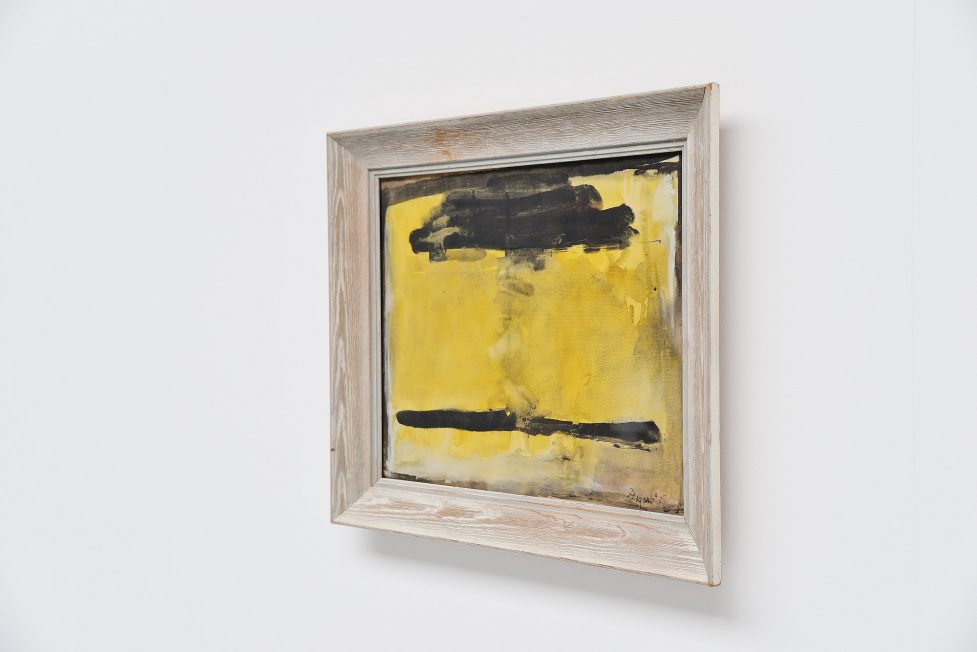 Bram Bogart abstract Gouache Holland 1957